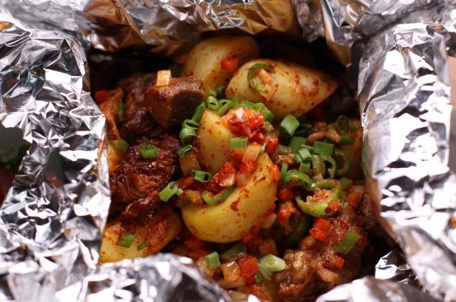 土豆炒排骨