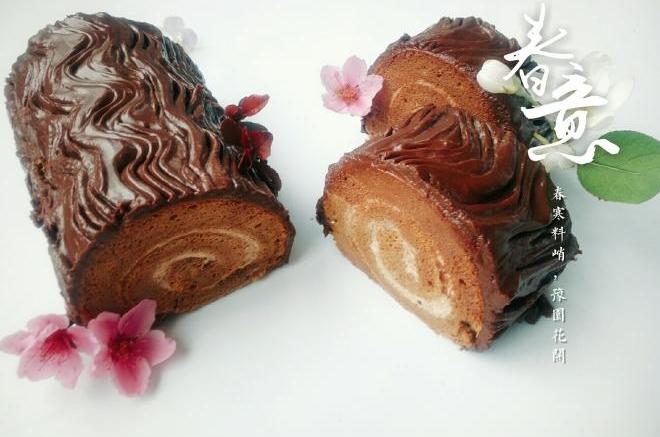 巧克力树根蛋糕卷