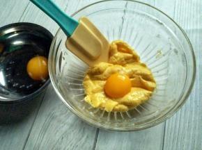 蛋蛋分两次加入,拌均匀