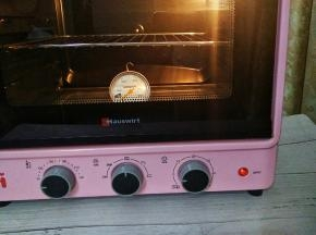 110度预热烤箱