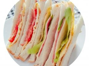 放凉切片,煎或烤,夹三明治。