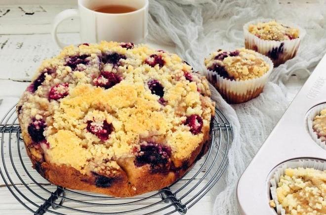 浆果妙芙蛋糕
