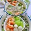 丝瓜虾仁菌菇汤