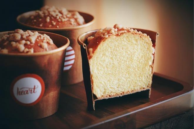 便于携带颜值高的杏仁酥粒南瓜杯子面包