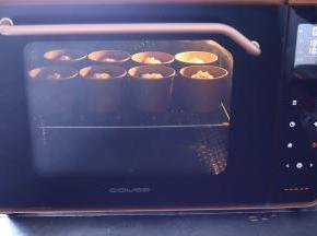 发酵剩余10分钟的时候预热烤箱180度,上下火,中下层,烘烤时间为28分钟。