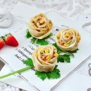 玫瑰花蒸饺