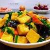 韭菜炒豆腐的制作方法