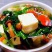 滑子蘑菠菜豆腐羹的制作方法