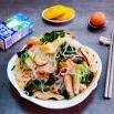菠菜凉拌粉丝豆皮香菇