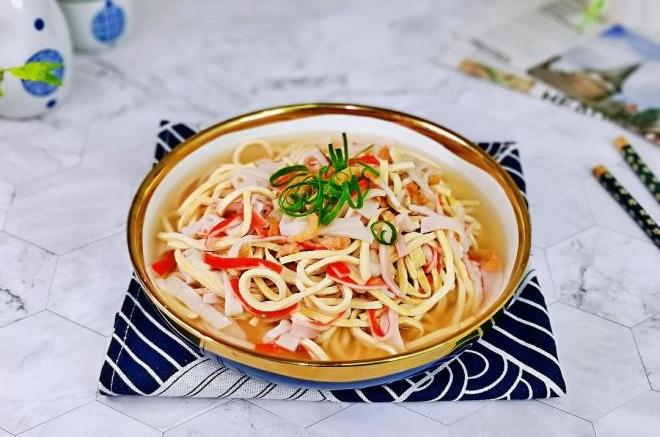 蟹肉虾米煮干丝
