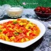 培根青椒西红柿炒蛋的制作方法