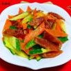 黄瓜胡萝卜炒腊肠的制作方法