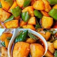 青椒烧土豆
