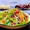 蒜苗粉丝拌花生米的制作方法
