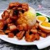 香菇鸡蛋卤肉饭
