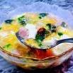 皮蛋豆腐香肠汤