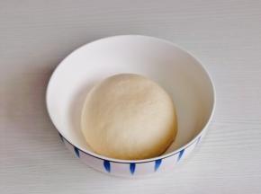 取出揉圆,盖上盖子进行发酵,发酵至原来的1.5倍大。
