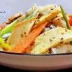 豆卷魔芋胡萝卜拌葱的制作方法