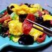 腊肠儿菜木耳炒蛋的制作方法